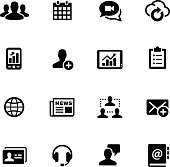 Business Network Icons // Black Series