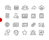 Business Network Icons // Red Point Series