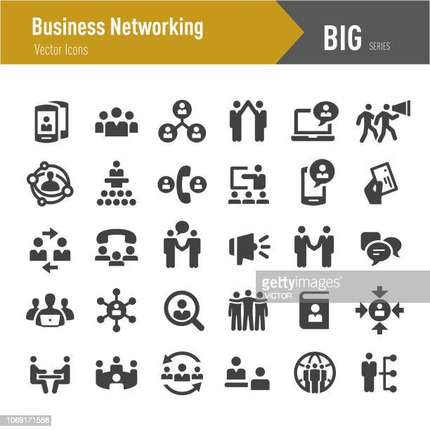 Business Networking Icons - Big Series