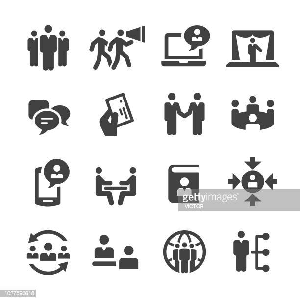 Business Networking Icons Set - Acme Series