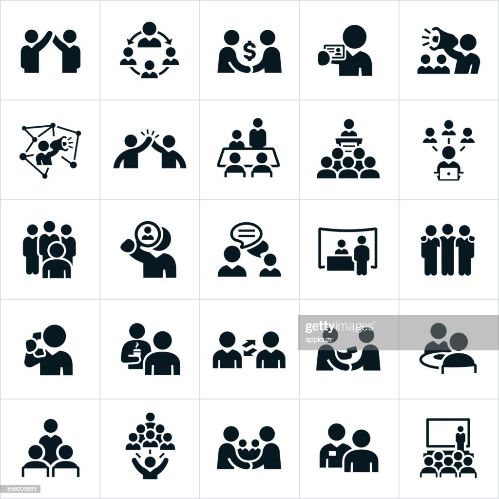 Business-Networking-Icons : Stock-Illustration