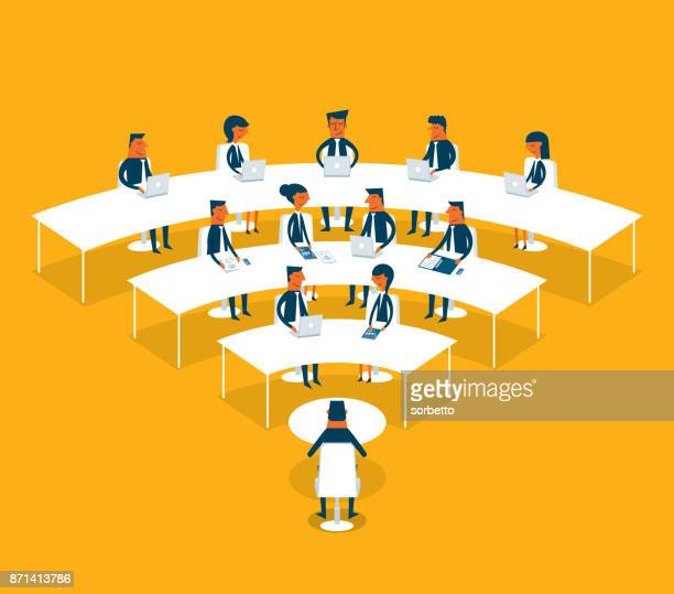 business networking - conference table stock illustrations, clip art, cartoons, & icons