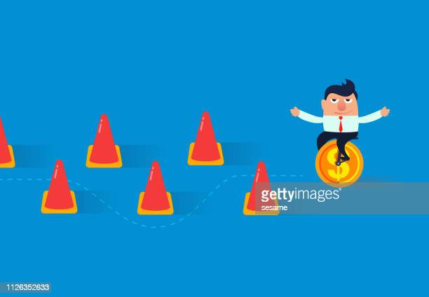 business obstacle training - forbidden stock illustrations