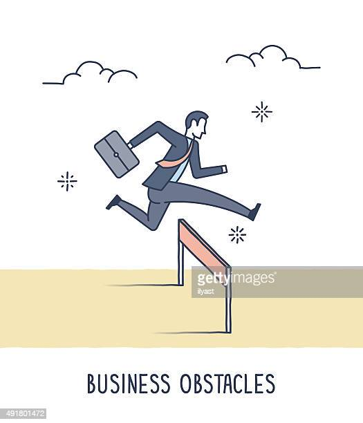 business obstacles - hurdle stock illustrations