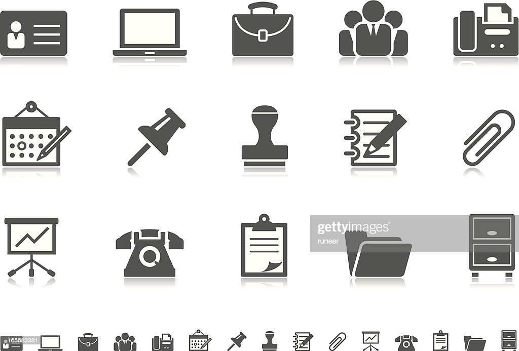Business & Office icons   Pictoria series