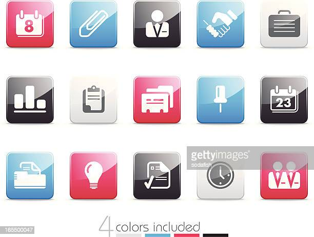 business & office icons | senso series - card file stock illustrations, clip art, cartoons, & icons