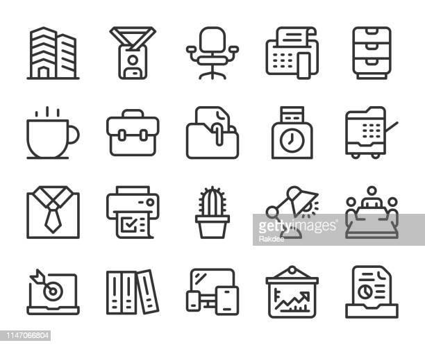 ビジネスオフィス-ラインアイコン - コピーする点のイラスト素材/クリップアート素材/マンガ素材/アイコン素材