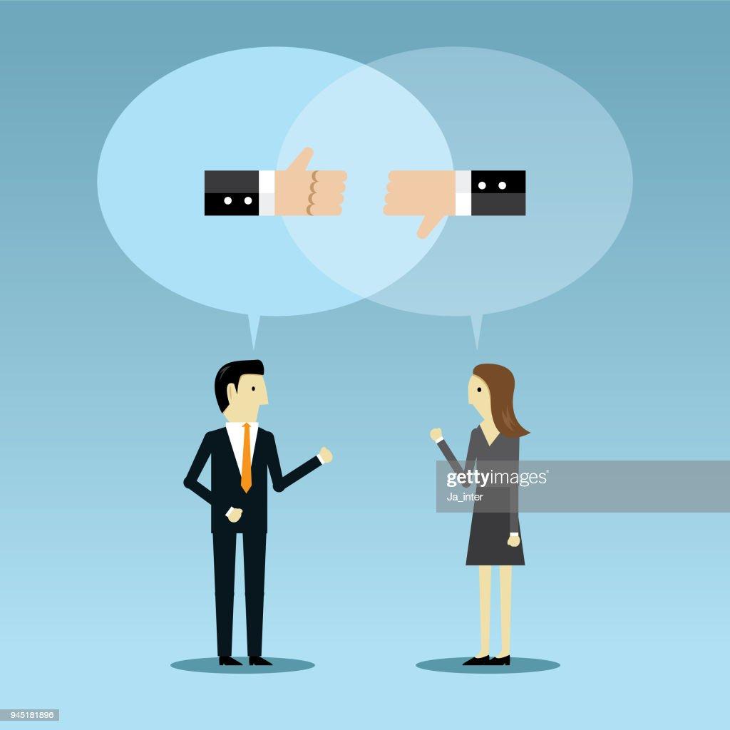 Business opposites : Vector Art