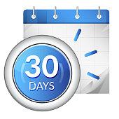 Business Organizer 30 Days Deadline - Icon