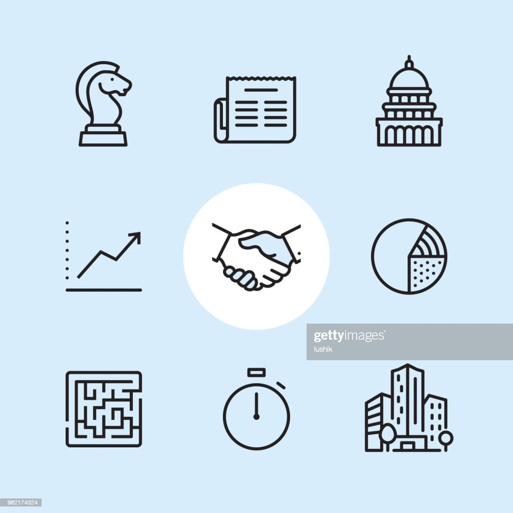 Business - outline icon set