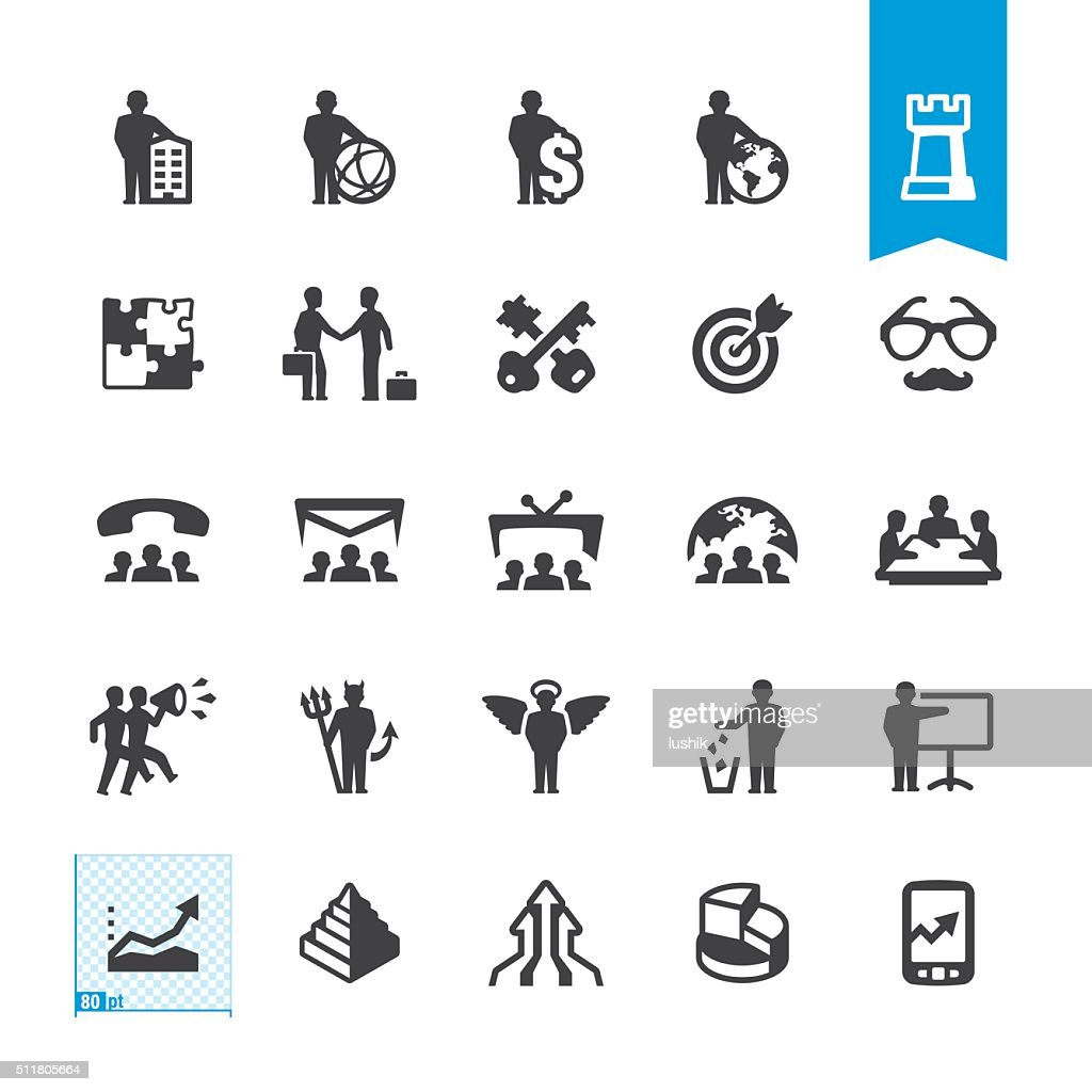 Business owner and Marketing vector icons