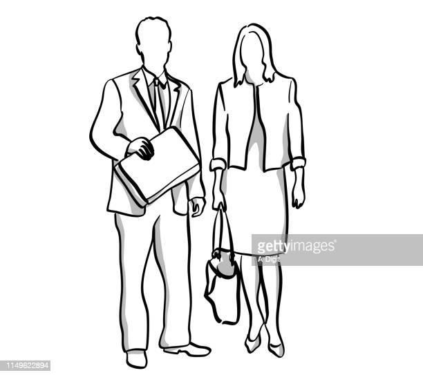 business partners - businesswoman stock illustrations