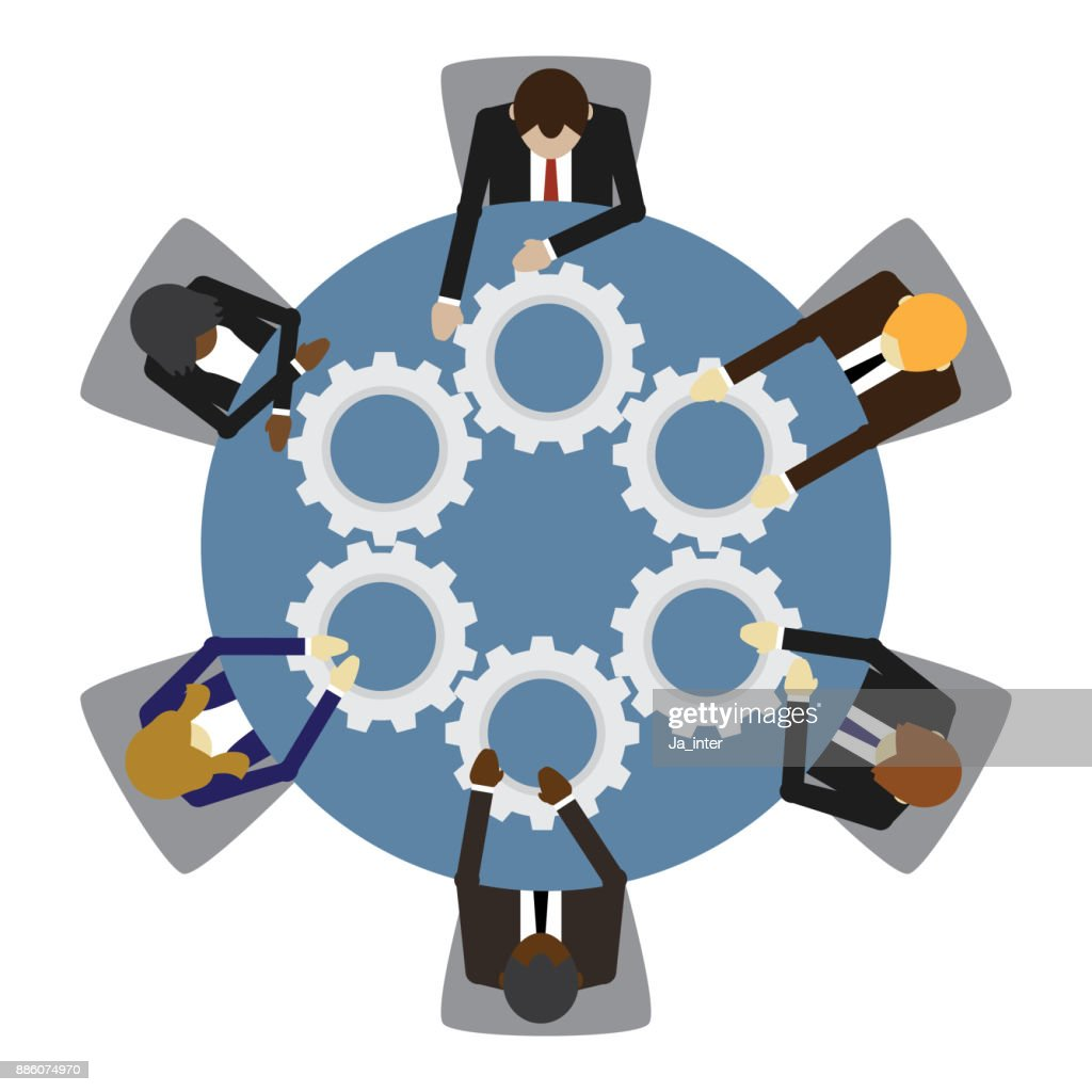 Business people and teamwork : stock vector