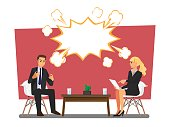 Business people arguing  ,Vector illustration cartoon character.