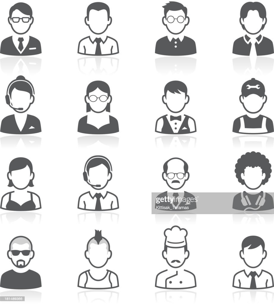 Business people avatar icons. Vector illustration