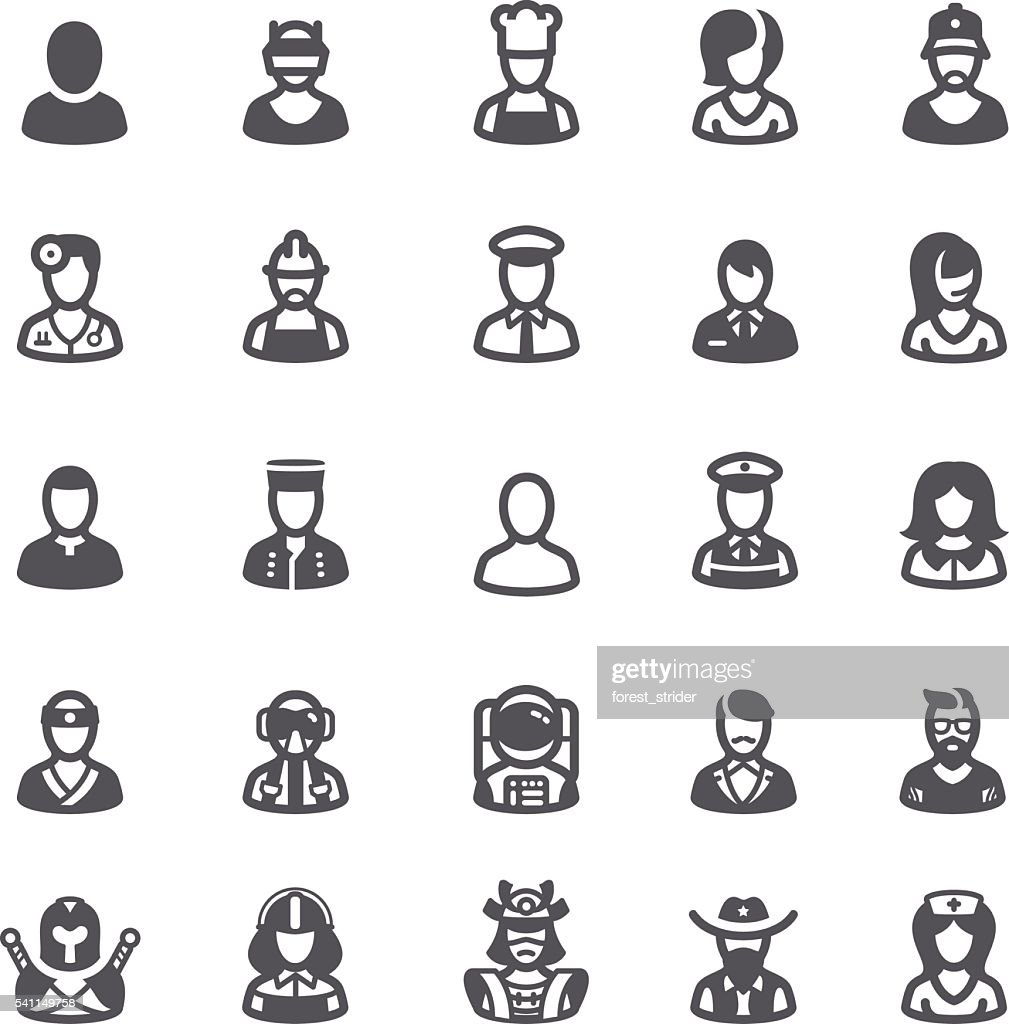 Business people avatars icons : stock illustration
