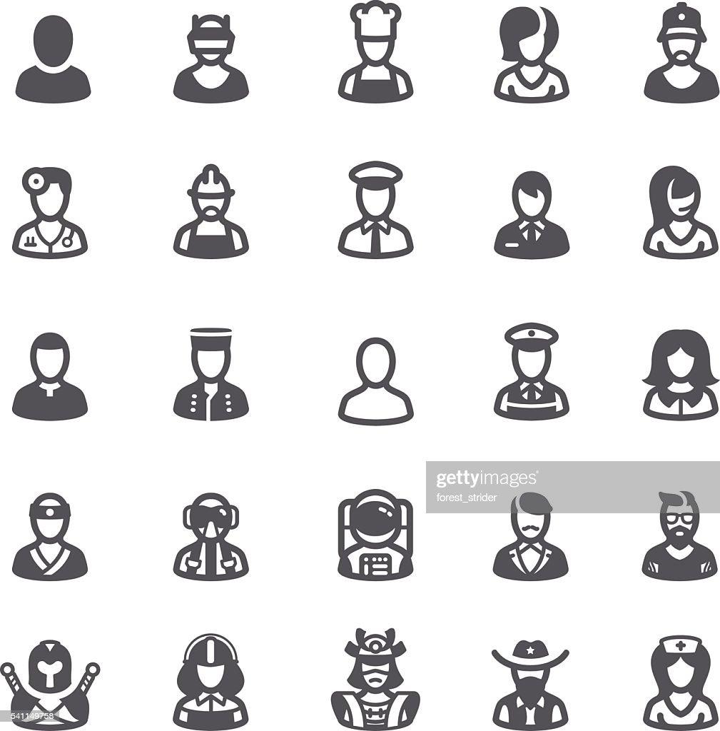 Business people avatars icons