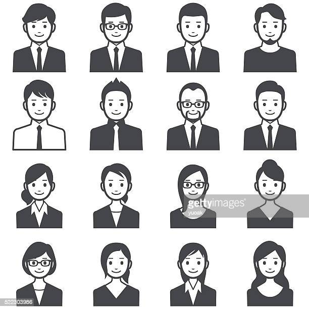 stockillustraties, clipart, cartoons en iconen met business people avatars - eén persoon