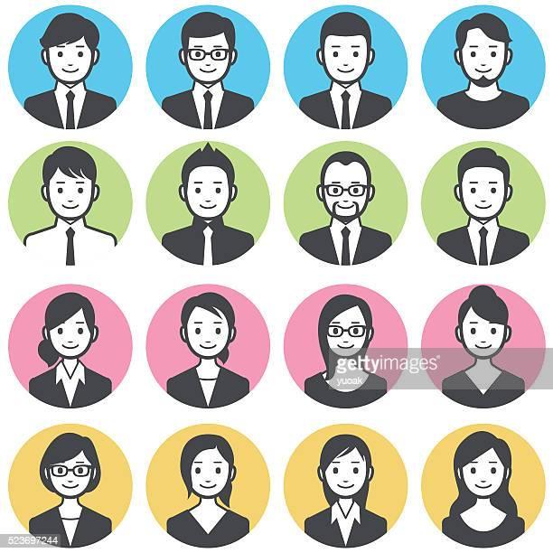 ilustrações, clipart, desenhos animados e ícones de avatares pessoas de negócios - avatar