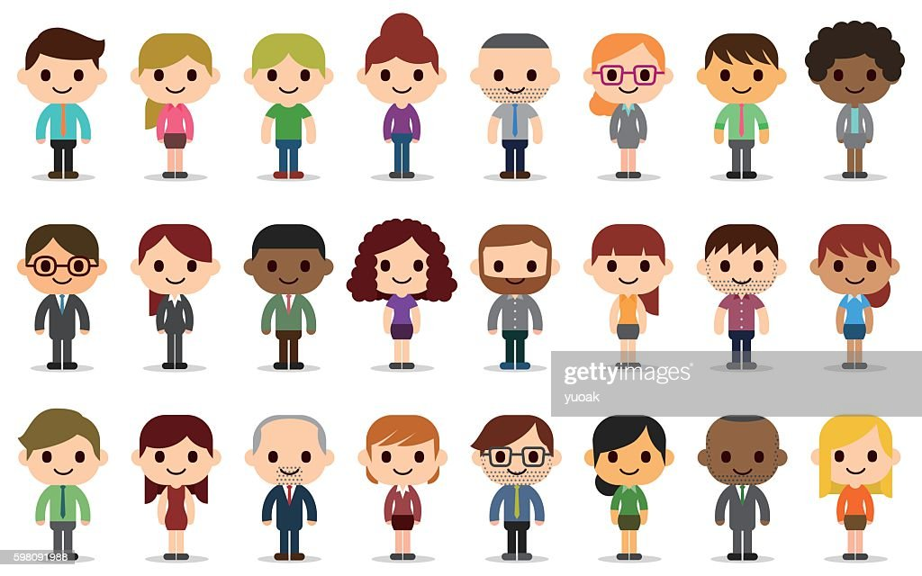 Business people avatars : stock illustration