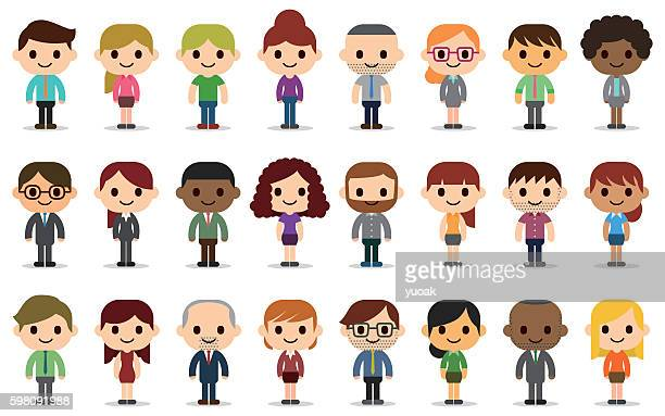 business people avatars - avatar stock illustrations