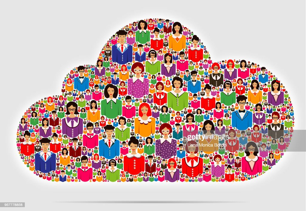 Business People Cloud : Vector Art
