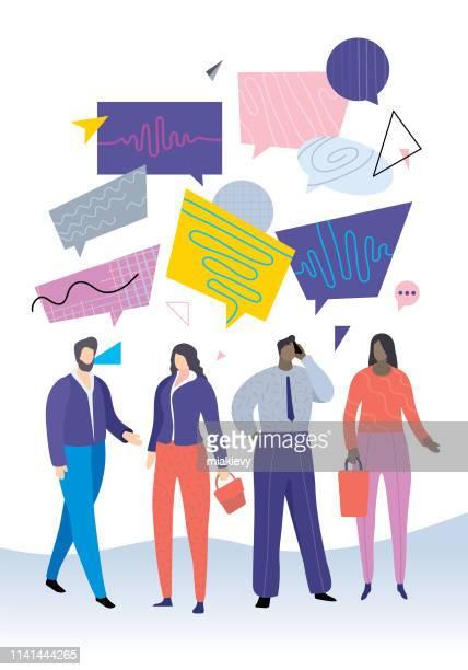 Communication de gens d'affaires