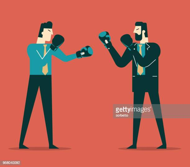 business people competition - businessmen - competitive sport stock illustrations, clip art, cartoons, & icons