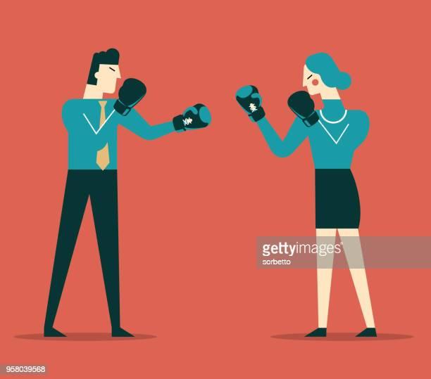 illustrations, cliparts, dessins animés et icônes de gens d'affaires de concurrence - gant de boxe