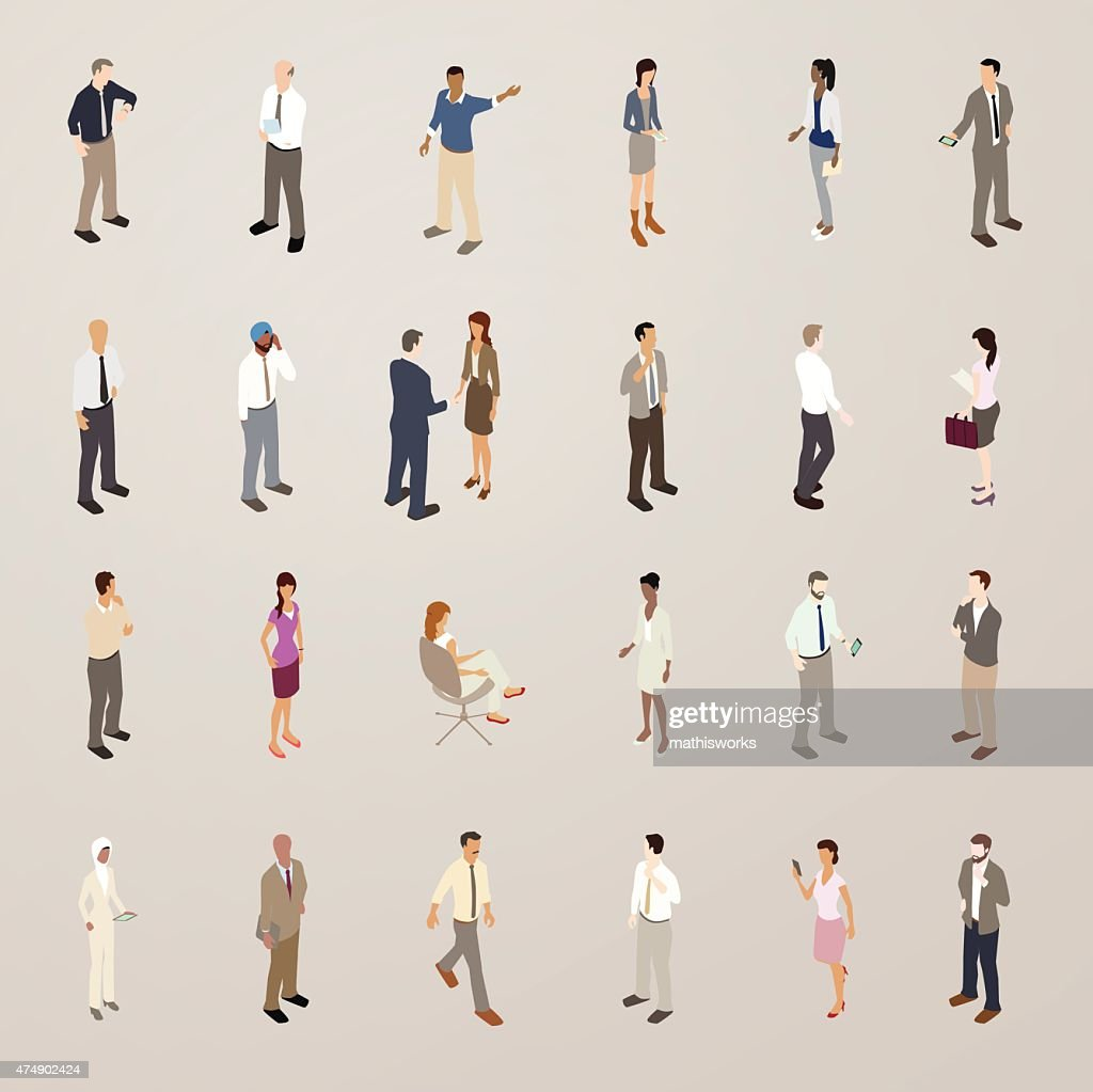 Business People - Flat Icons Illustration