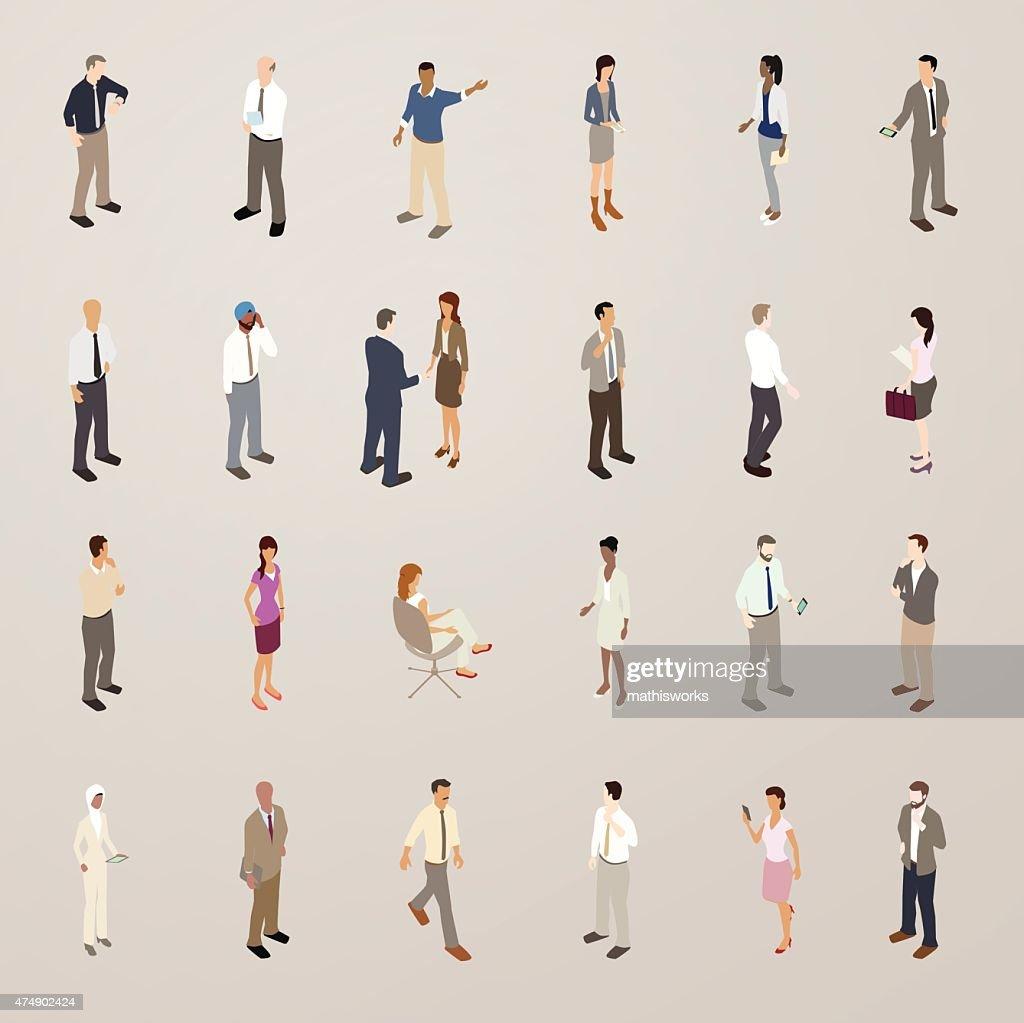 Business People - Flat Icons Illustration