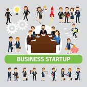 Business people group icons