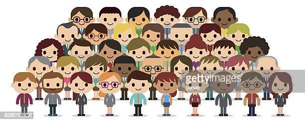 business leute gruppe - mitarbeiterengagement stock-grafiken, -clipart, -cartoons und -symbole