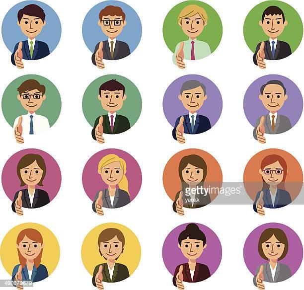 business people handshake - new hire stock illustrations
