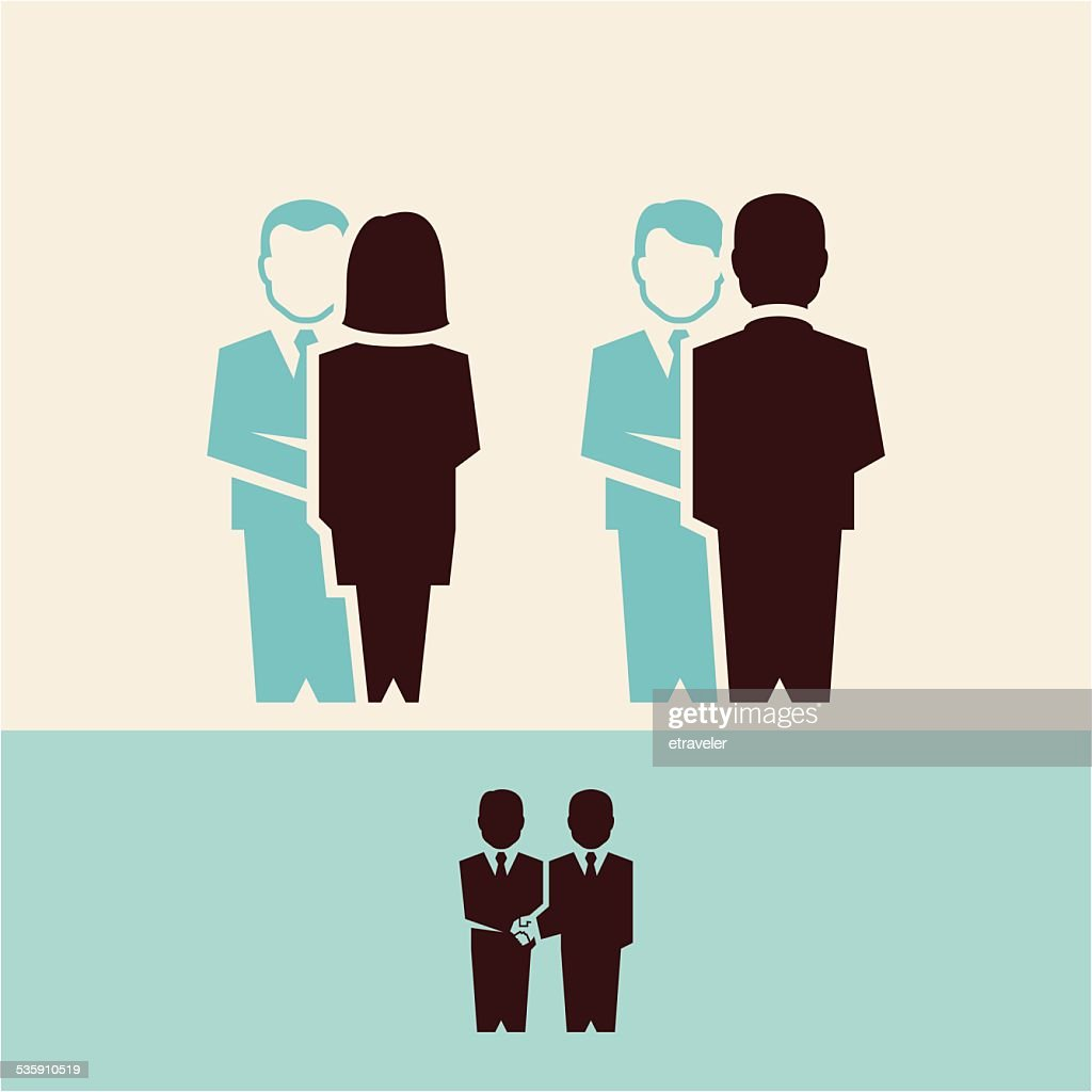 Negócios pessoas aperto de mão : Arte vetorial