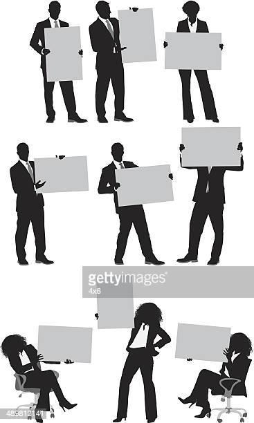 Negócios pessoas exploração em branco cartão