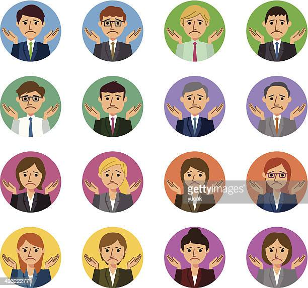 business people i don't know gesture - shrugging stock illustrations, clip art, cartoons, & icons