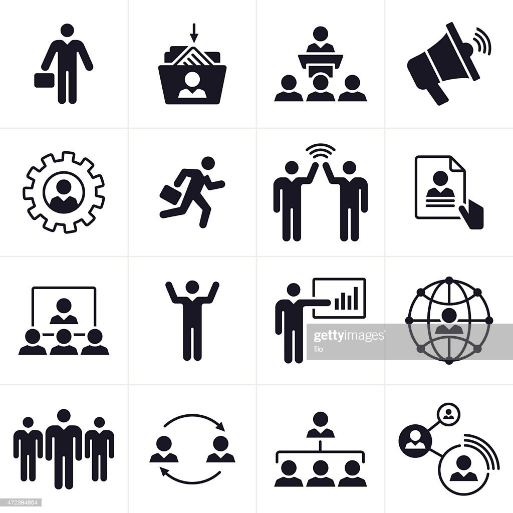 Business People Icons And Symbols Vector Art Getty Images