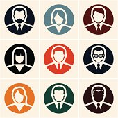 Business people icons. Avatar.