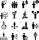 Business People Icons - Black Series