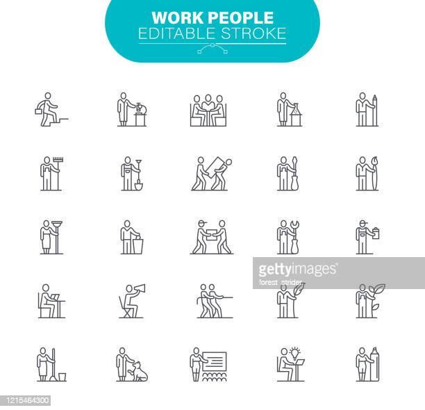 illustrations, cliparts, dessins animés et icônes de icônes des gens d'affaires. l'ensemble contient une icône telle que l'employé ; occupation; avatar; illustration de femmes - professional occupation