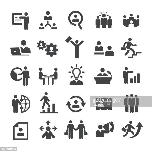 business people icons - smart series - professional occupation stock illustrations