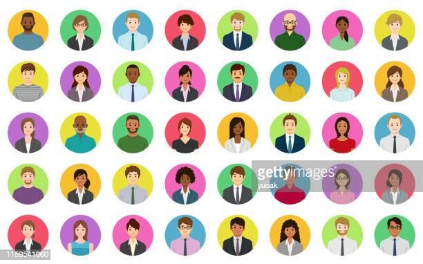 ilustrações, clipart, desenhos animados e ícones de executivos dos ícones - avatar