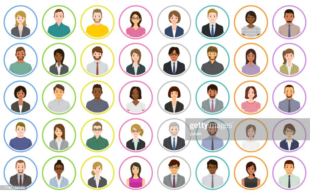 Business people icons : stock illustration