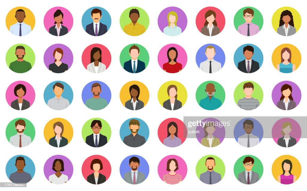Business people icons : Ilustração de stock