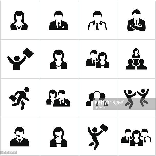 business people icons - sales occupation stock illustrations