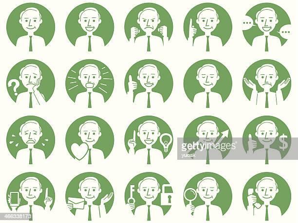 Iconos de personas de negocios