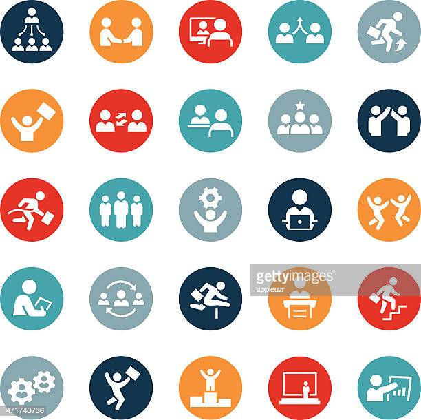 business people icons - interview stock illustrations, clip art, cartoons, & icons
