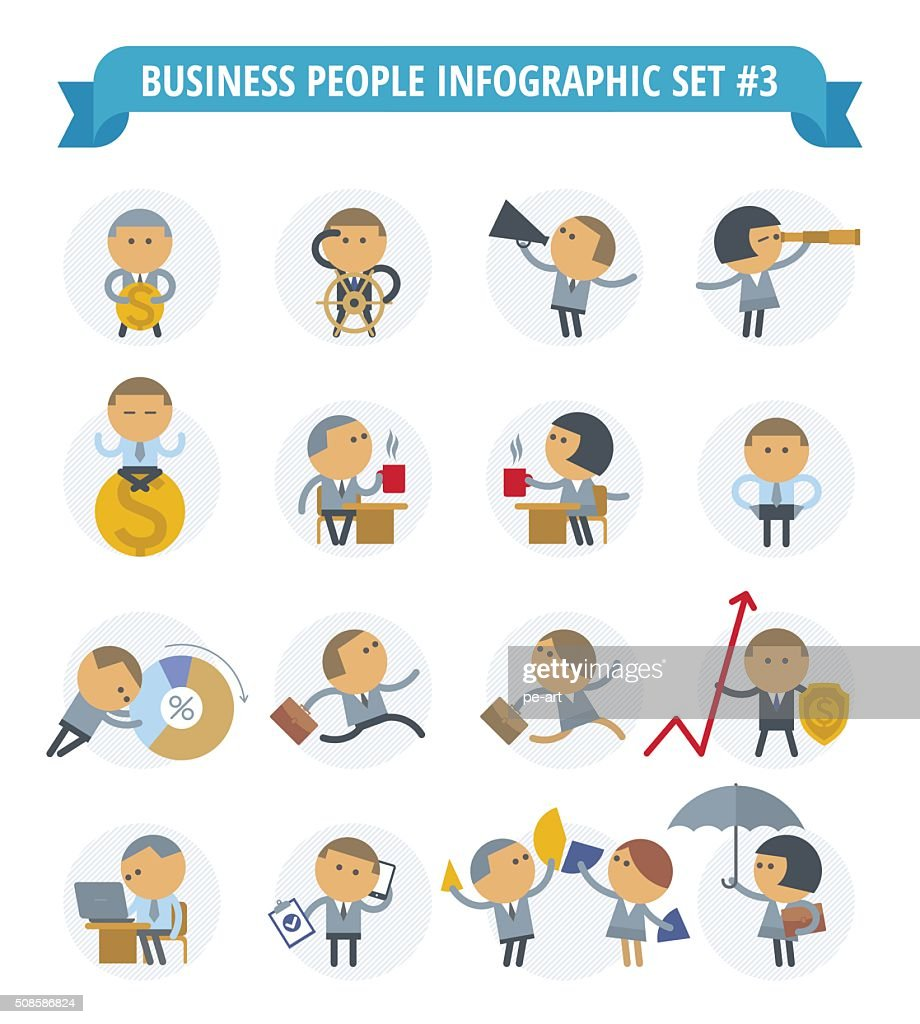 Business People Infographic Set 3