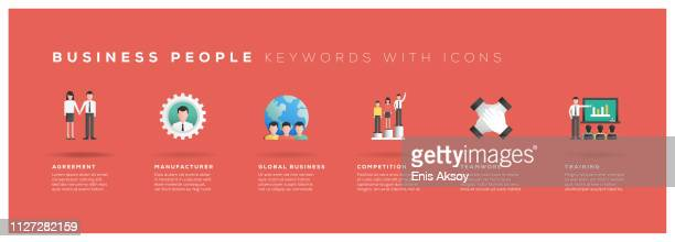 Business People Keywords with Icons